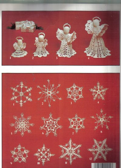 Crocheted Snowflakes and Angels