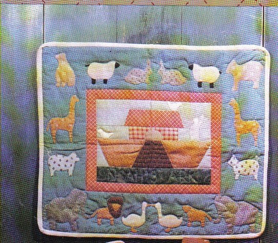 Bears Paw Designs Noah's Ark Quilt Wall Hanging & Pillow
