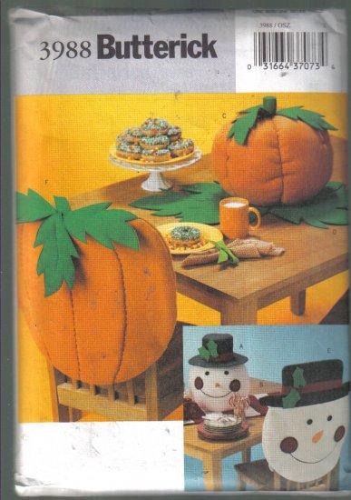 Butterick  3988 Tabletop Fall Pumpkin Winter Snowman Pattern