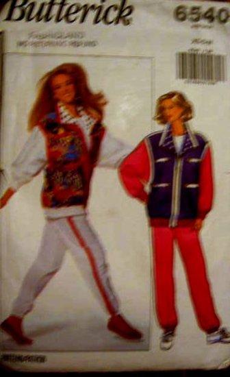 Butterick  6540 Misses' Size 6 - 14 Jacket and Pants Pattern Uncut