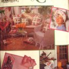 Simplicity 8523 Gardening Craft Pattern Apron, Pillow Cover, Chair Cover