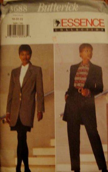 Butterick 3688  Essence Collection Jacket, Shirt, Skirt & Pants Size 18 , 20, 22 Pattern uncut