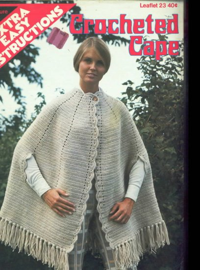 Crocheted Cape Instructions