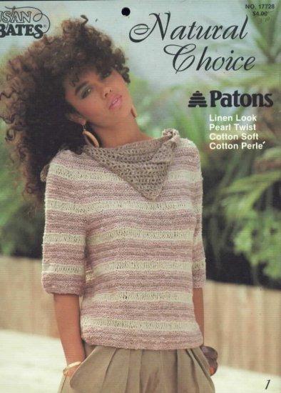 Susan Bates Patons Natural Choice Tops  Knitting / Crochet  Patterns