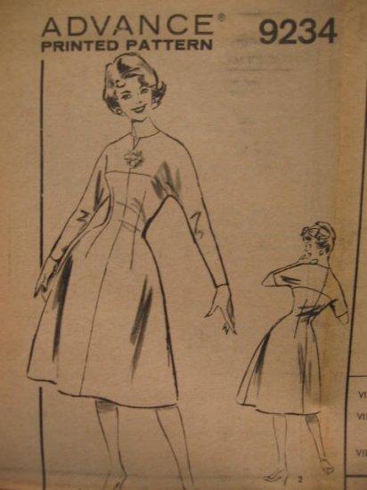 Vintage Advance Dress Pattern 9234 Size 16