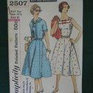 Vintage Simplicity Slenderette Half Size Dress & Jacket Pattern 2507
