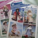 "8 Outfit Patterns for Wangs 16"" Porcelain Doll"