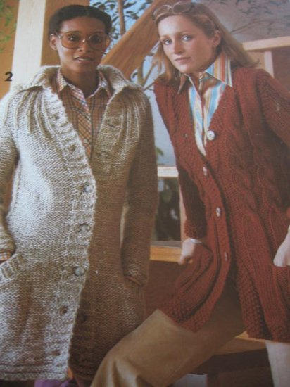 CM Year Round Cardigans to Knit and Crochet Patterns Small to Xlg