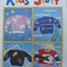 Bernat Kids Stuff Knitting Sweater Patterns sz 6, 8, 10, 12