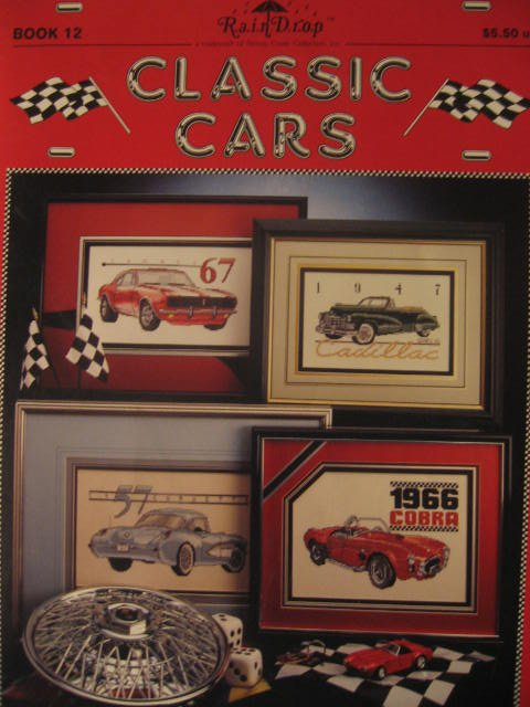 Classic Cars Counted Cross Stitch Pattern