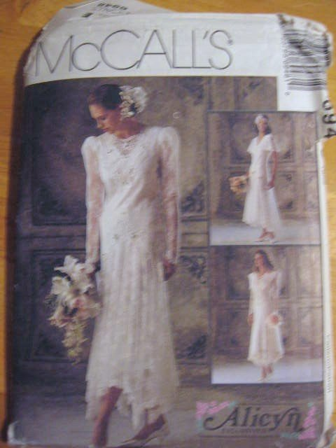 McCall's  Misses'  Bridal Gown Bridesmaid Dresses  Sewing Pattern no.6948 Size 6 Uncut