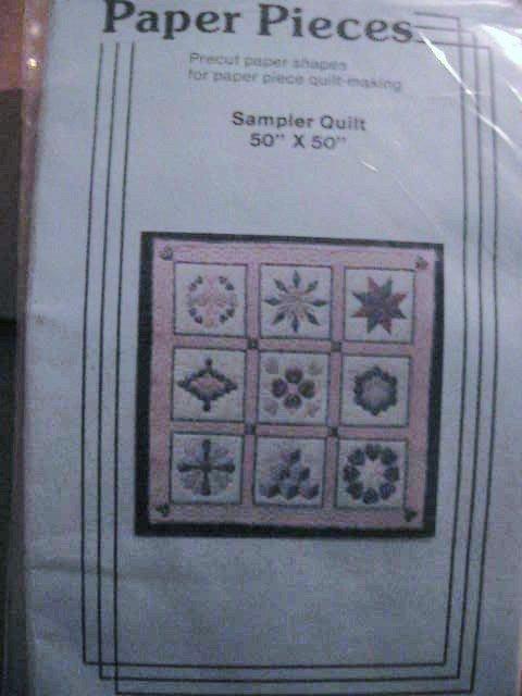 "50"" Sampler Precut Paper Pieces Quilt Pattern"