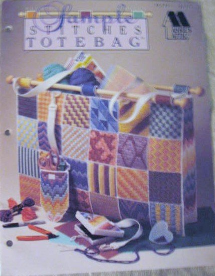 Annie's Attic Sample Stitches Totebag in Plastic Canvas