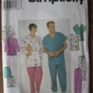 Simplicity Scrubs & Jacket Sewing Pattern No 8088 sz xs, s, m   uncut