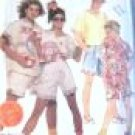 McCall's Misses' Teen Boys Shirt  Top Shorts  Sewing Pattern no.3037 Size Small Uncut