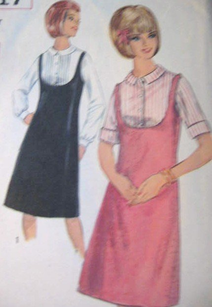 Simplicity Vintage Teen Age� Jumper and Blouse Sewing Pattern  Size 16T uncut no 5717