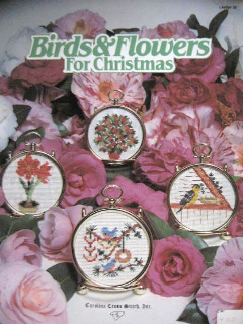 Birds and Flowers for Christmas Cross Stitch Designs 10 Designs