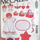 McCall's Christmas Decorations  Angels, baskets Stars Sewing Pattern no 6320
