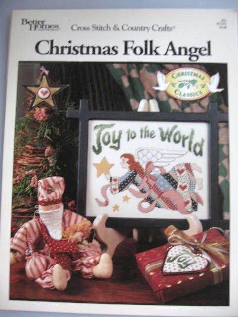 Christmas Folk Angel Cross Stitch Designs  Patterns