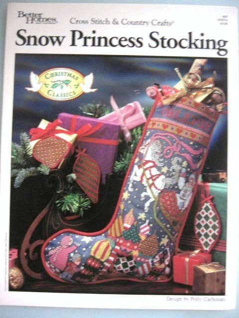 Christmas Snow Princess Stocking Cross Stitch Designs  Patterns