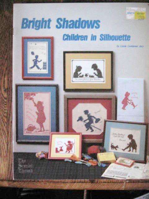 Bright Shadows Children in Silhouette Cross Stitch Designs  Patterns