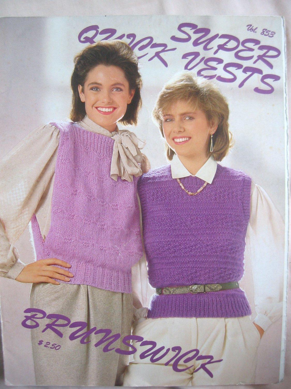 Super Quick Vests Knitting Patterns 4 designs