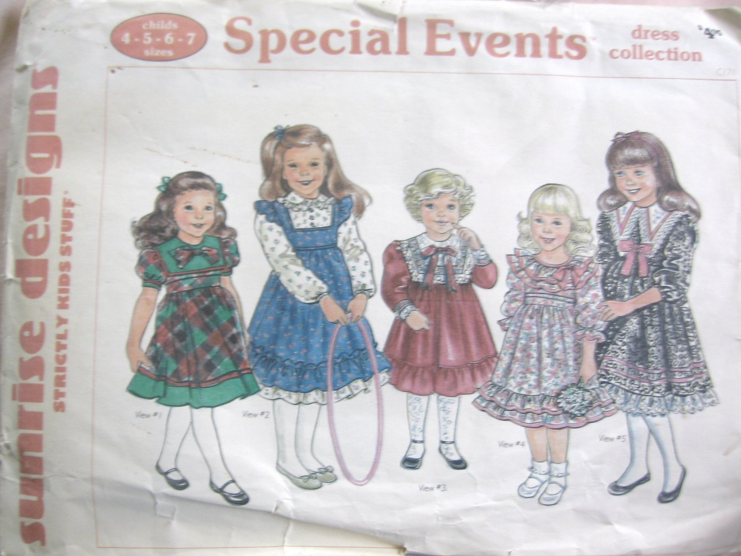 Sunrise Designs c 171  Girl's Special Events Dress Collection Size 4 5 6 7 Uncut