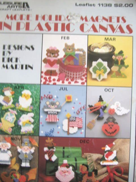 More Holiday Magnets for Plastic Canvas 20 Designs