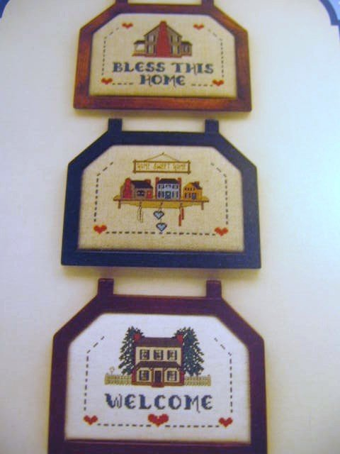 Home Greetings Cross Stitch Designs  Bless This House Home Sweet Home Welcom