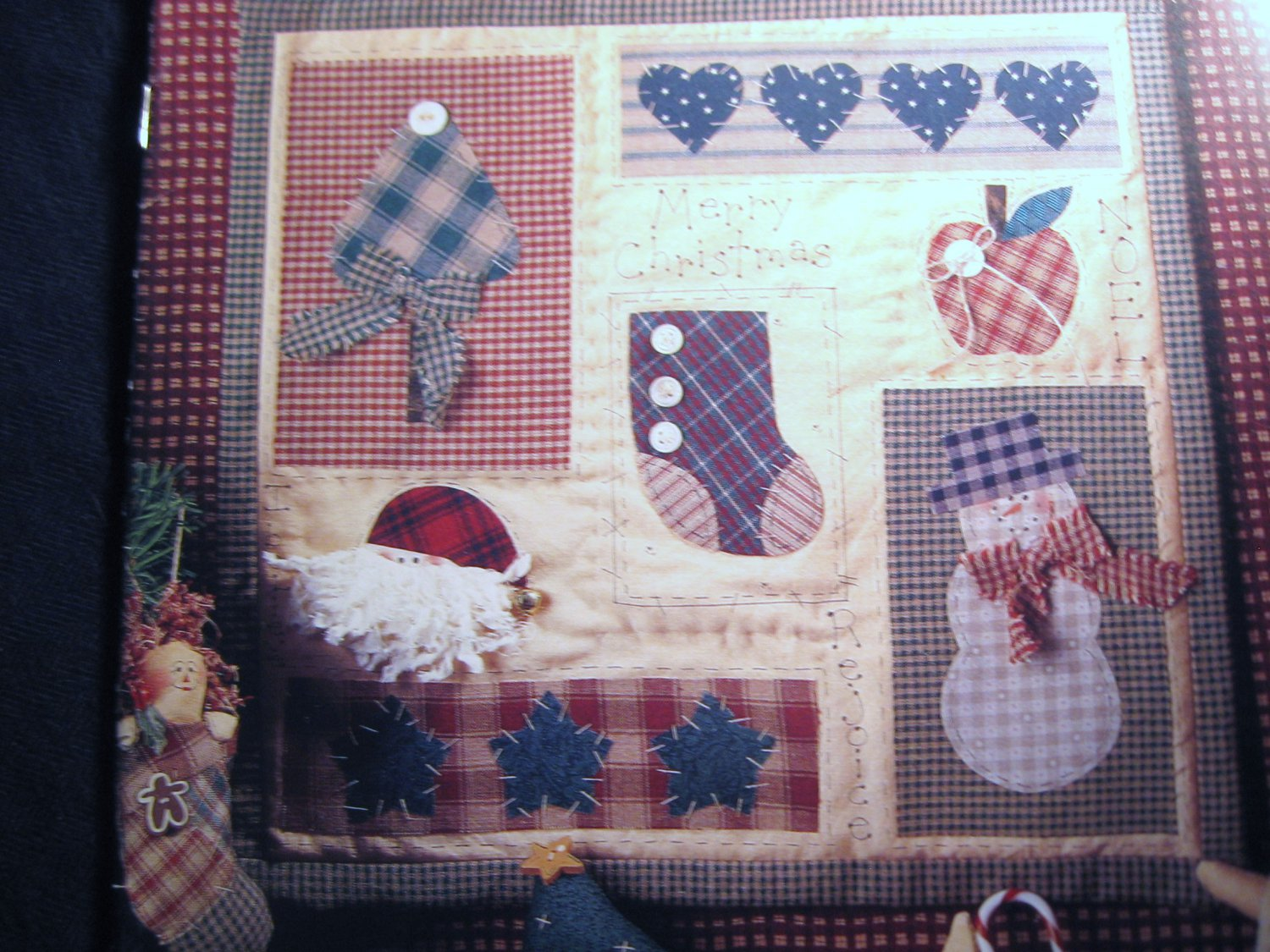 Holiday Treasures by Cheryl Haynes Christmas Hanging Quilt and Decorations