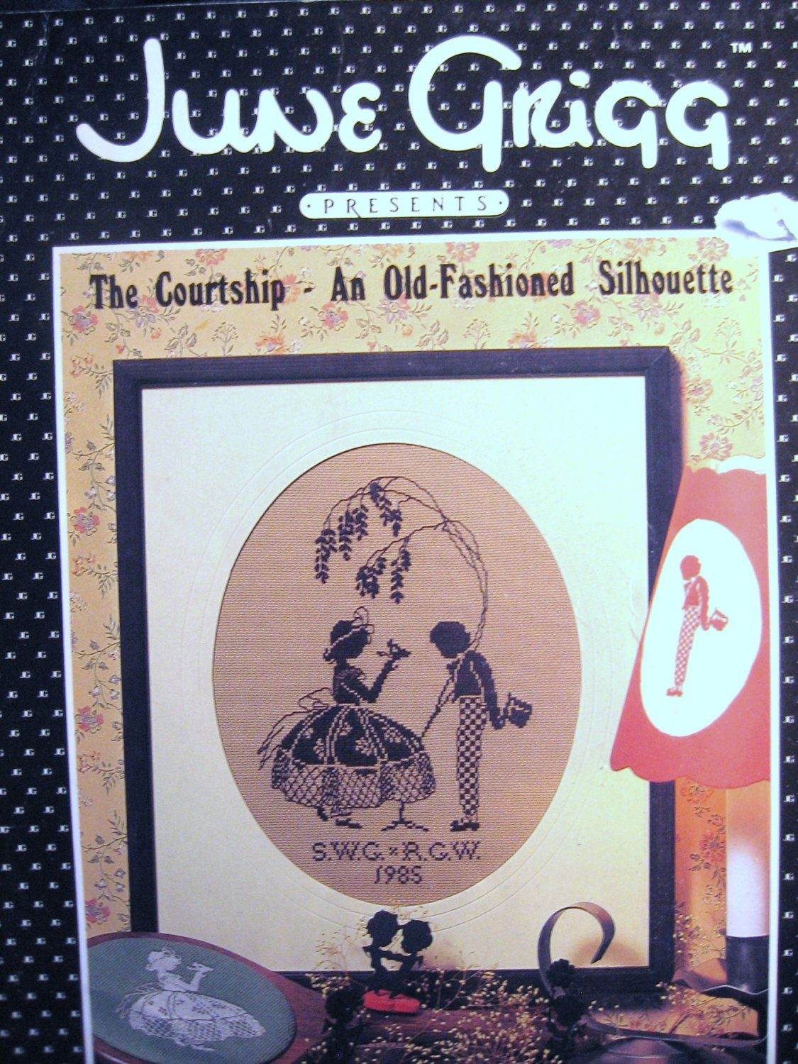 The Courtship An Old Fashioned Silhouette by June Grigg Cross Stitch Pattern