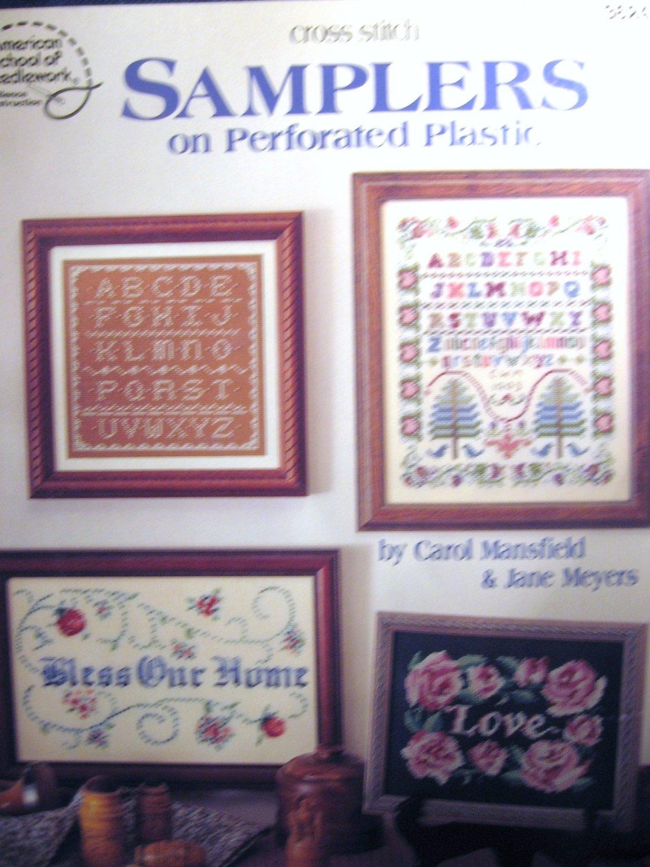 Cross Stitch Samplers on Perforated Plastic - Plastic Canvas