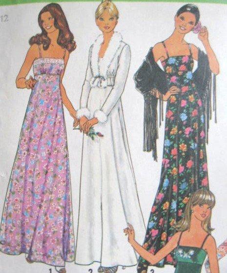 Misses� Long Evening  Dress & Jacket Size 12 Simplicity 7807 Uncut