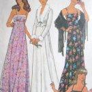 Misses' Long Evening  Dress & Jacket Size 12 Simplicity 7807 Uncut