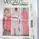 McCall's  Misses'  Stretch Knit DressSewing Pattern no.6822  Size Medium