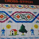 2 Cross Stitch Booklets Alphabets and Borders in Cross Stitch