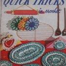 2 Vintage Quick Trick Crochet Booklets Coats Clark