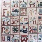 Americana Alphabet Sampler Cross Stitch Pattern - Ann Taylor Nelson