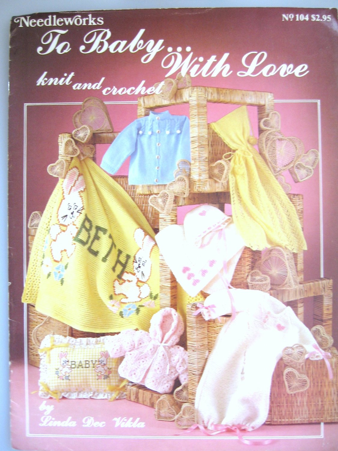 To Baby with Love Knit and Crochet Patterns Bunting Sweaters One Piece Afghan