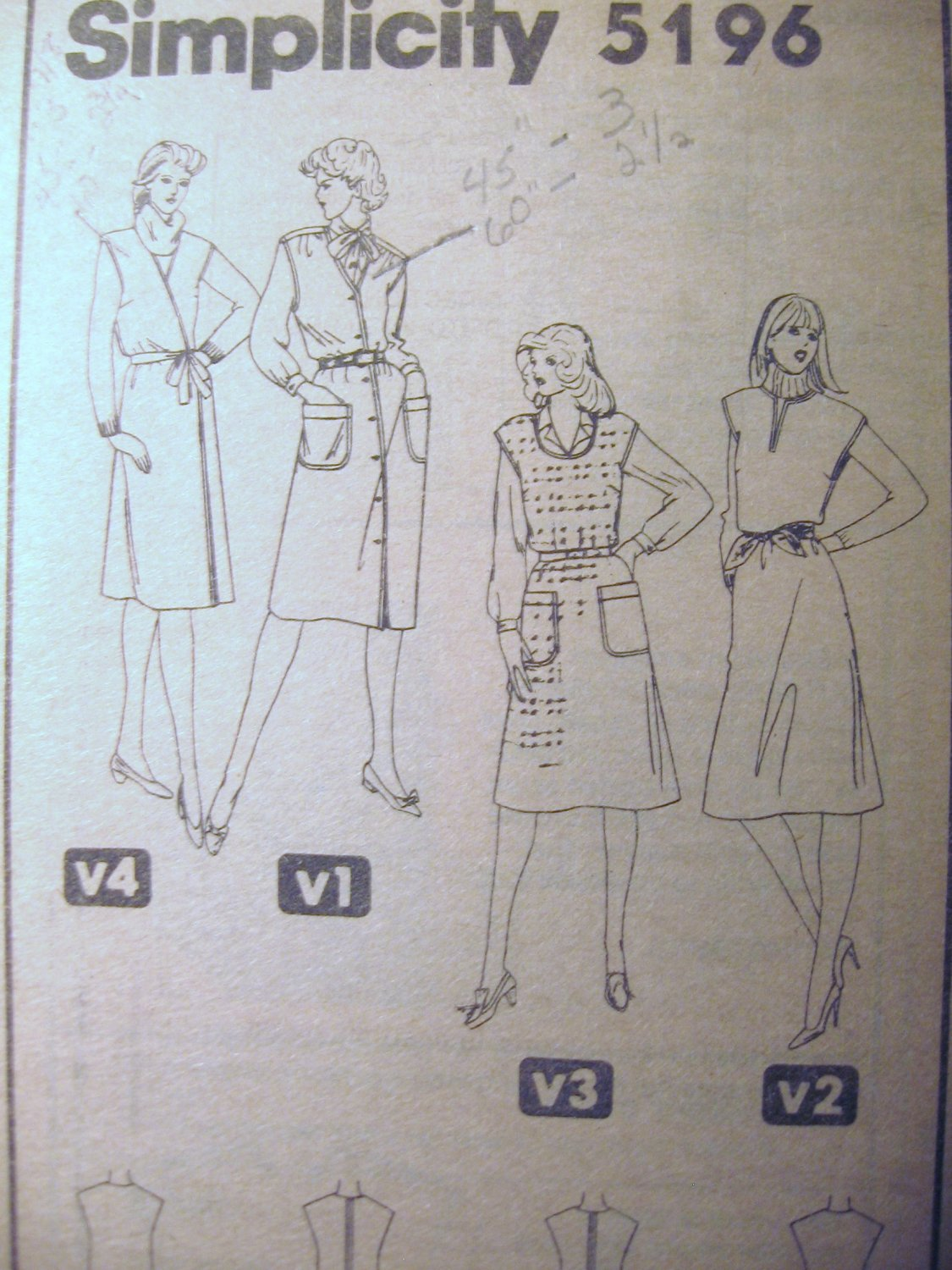 Simplicity   Misses� Set of Jumpers Sewing Pattern  Size 18 uncut no 5196