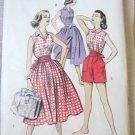 Vintage Advance 8248 Uncut Playsuit Blouse Skirt Shorts Sewing Pattern sz 14