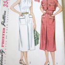 Vintage 50's Simplicity 3613 One Piece Dress Bolero Sewing Pattern uncut size 16