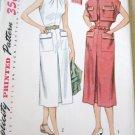 Vintage 50's Simplicity 3613 One Piece Dress Bolero Sewing Pattern uncut size 16