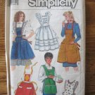 Simplicity 7647 Set of Apron Sewing Pattern 2 Styles One Size