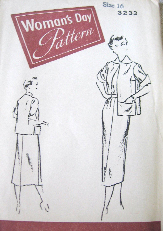 Vintage Woman's Day 3233 Jacket Skirt Uncut Pattern sz 16