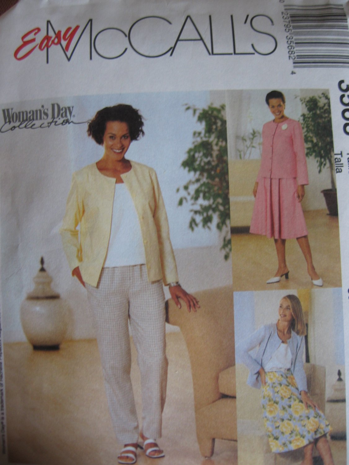 Unlined Jacket, Pants, Top, Skirt  McCall's 3568 Sewing Pattern 16 18 20 22 NEW
