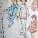 Simplicity 3690 Girls Pajamas and Pillow / Pajama Bag Sewing Simplicity Pattern size 12