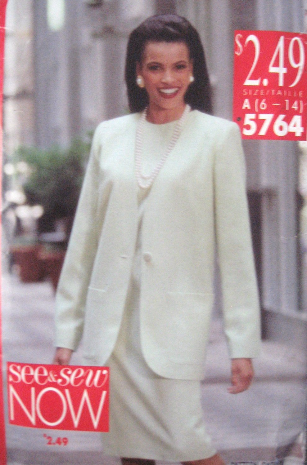 Butterick See & Sew 5764 Misses'  Jacket and Dress Sewing Pattern sz 6 - 14 Uncut