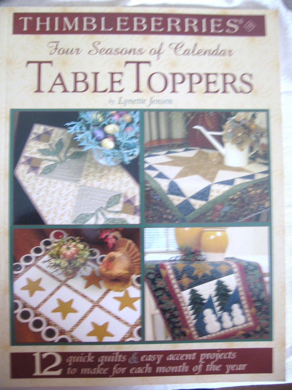 Thimbleberries Four Seasons of Calendar Table Toppers Lynette Jensen