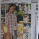 McCall's Dress Top Shirt Jackert Vest Capri Pants Short  Pattern no.3646 Size 8, 10, 12, 14  Uncut